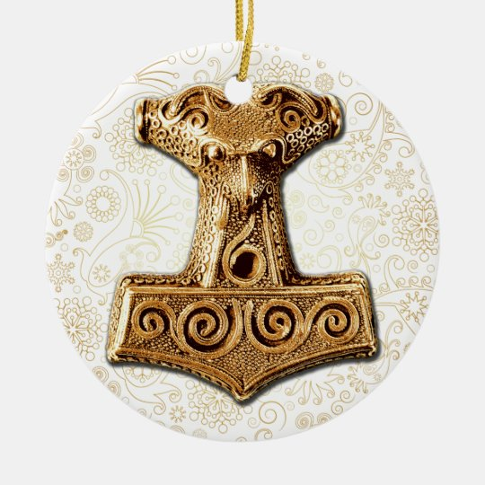 Thor's Hammer-Mjölnir in Gold - Ornament