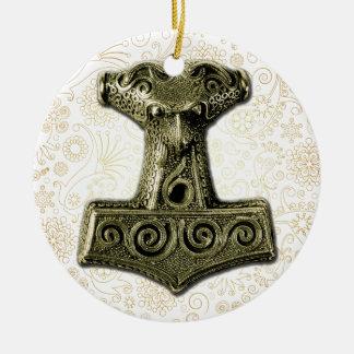 Thor's Hammer-Mjölnir in Green - Ornament