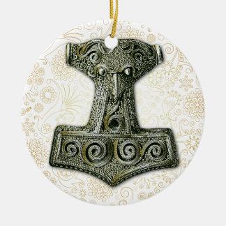 Thor's Hammer-Mjölnir in Yellow Green - Ornament