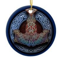 Thor's Hammer Pendant/Ornament Ceramic Ornament