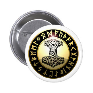 Thor's Hammer Pinback Button