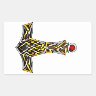 Thor's Hammer Rectangular Sticker