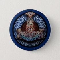 Thor's Hammer Round Button