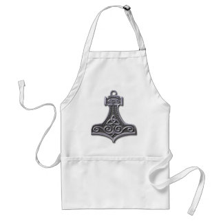 Thor's Hammer-silver Adult Apron
