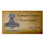 Thors Hammer silver Double-Sided Standard Business Cards (Pack Of 100)