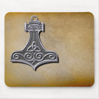 Thor's Hammer_Silver Mouse Pad
