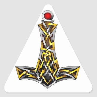 Thor's Hammer Triangle Sticker