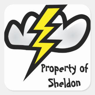 Thor's Thunder Square Sticker