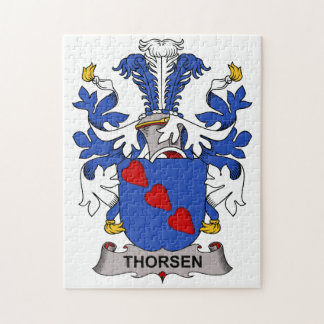 Thorsen Family Crest Jigsaw Puzzles