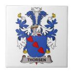 Thorsen Family Crest Small Square Tile