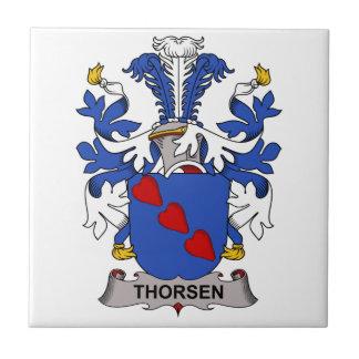 Thorsen Family Crest Tile