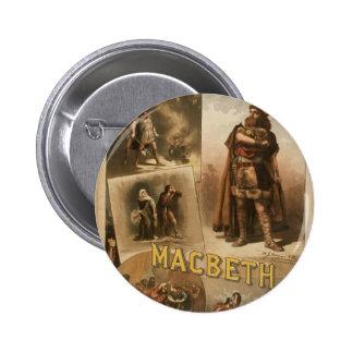 Thos .W. Keene, 'Macbeth' Retro Theater Buttons