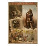 Thos .W. Keene, 'Macbeth' Retro Theater Greeting Cards