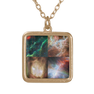 Those Awesome Nebulas Gold Plated Necklace
