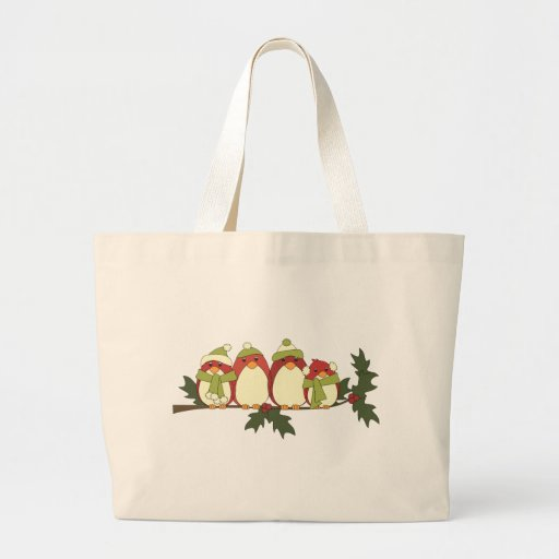 Those Birds on a Holly Branch Bag