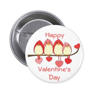 Those Birds On Valentines DAy 2 Inch Round Button