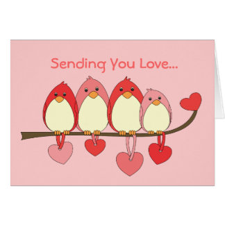 Those Birds On Valentines DAy Greeting Card