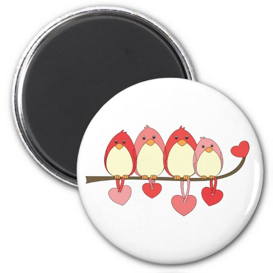 Those Birds On Valentines DAy Magnet