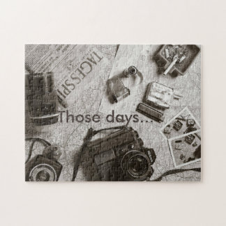 THOSE DAYS Puzzle - Photographer, Vintage, Old