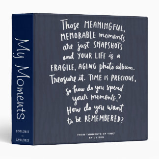 Those Meaningful Memorable Moments Photo Album 3 Ring Binders