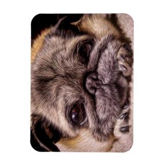 Those Pug Eyes (Digital Painting) Rectangular Photo Magnet