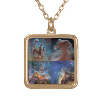 Those Remarkable Nebula Shapes Gold Plated Necklace