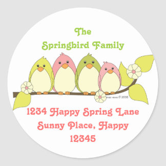 Those Spring Birds Classic Round Sticker