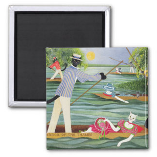 Those Summer Punts 2 Inch Square Magnet