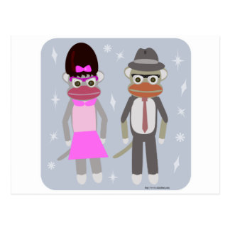 Those Swingin Sock Monkeys Postcard