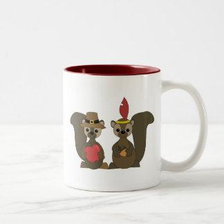 Those Thanksgiving Squirrels Coffee Mug