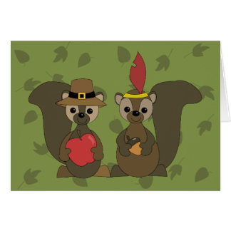 Those Thanksgiving Squirrels Greeting Cards