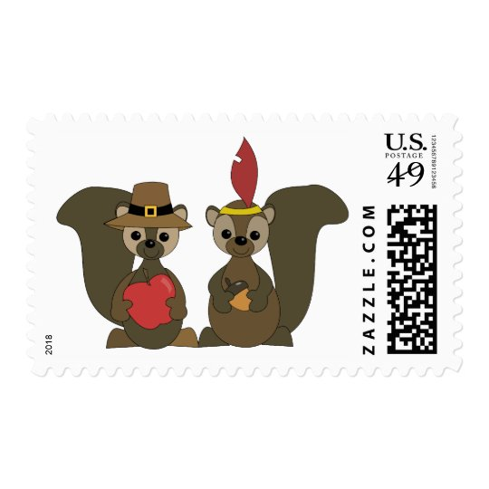 Those Thanksgiving Squirrels Postage