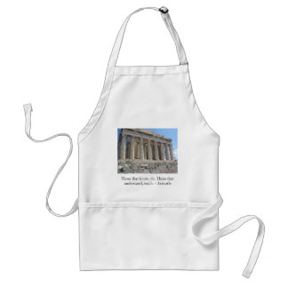 Those that know, do. Those that understand, teach. Aprons