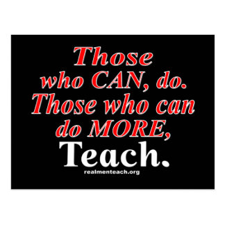 Those who can do MORE... Postcard