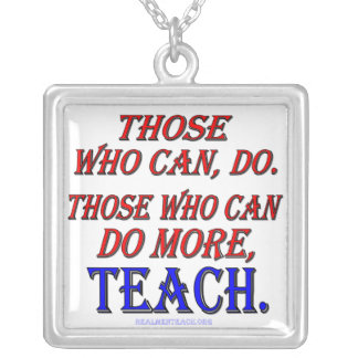 Those who can do MORE, teach Square Pendant Necklace