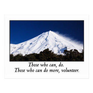 Those who can do more volunteer postcard