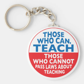 Those Who Can Teach Basic Round Button Keychain
