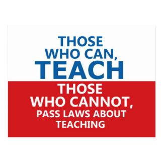 Those Who Can, Teach Postcard