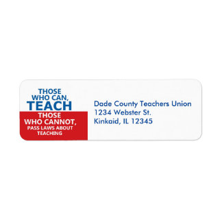 Those Who Can, Teach Return Address Labels