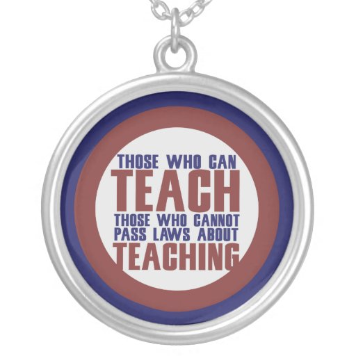 Those who can teach round pendant necklace