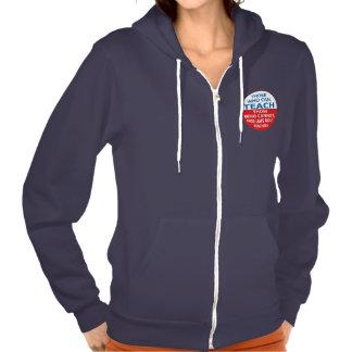 Those Who Can, Teach Women's Flex Fleece ZipHoodie Hooded Pullover