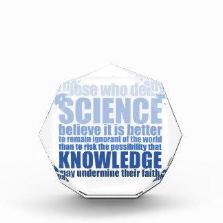 Those who deny science award