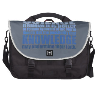 Those who deny science laptop bags