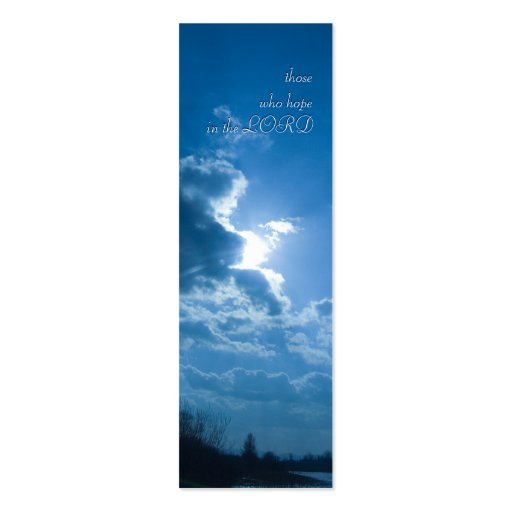 those who hope in the LORD - Bookmark Double-Sided Mini Business Cards (Pack Of 20)