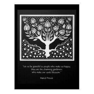 Those who make the soul blossom postcard