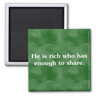Those who share are richest (2) 2 inch square magnet