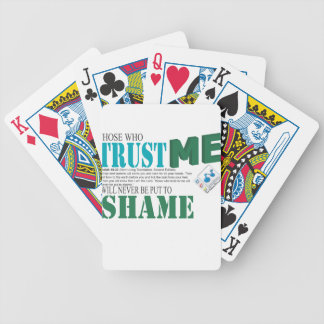 Those Who Trust Me Will Never Be Put To Shame Bicycle Playing Cards