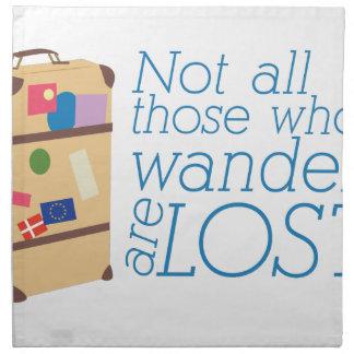 Those Who Wander Cloth Napkin