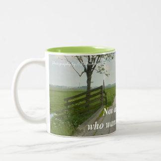 Those Who Wander Two-Tone Coffee Mug