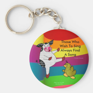 Those Who Wish To Sing Always Find A Song Basic Round Button Keychain